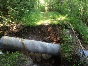 Babcock Donations - Babcock State Park - Narrow Gauge and Sewell Road damage from 2016 flood.
